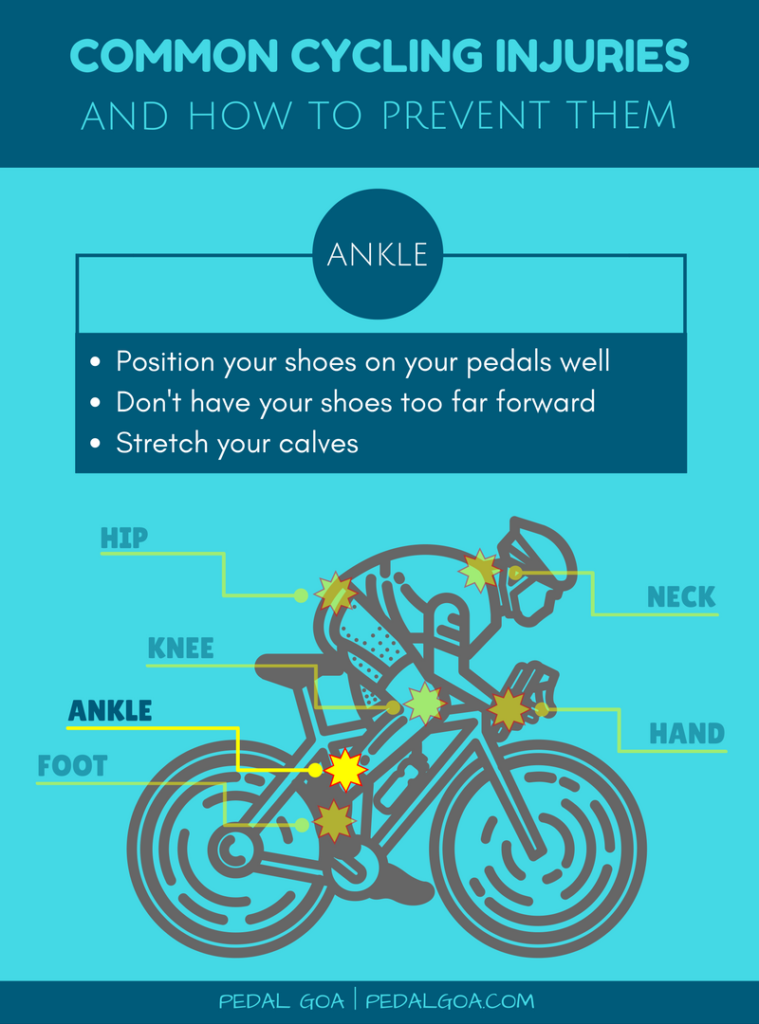 Prevent cycling injuries of ankle