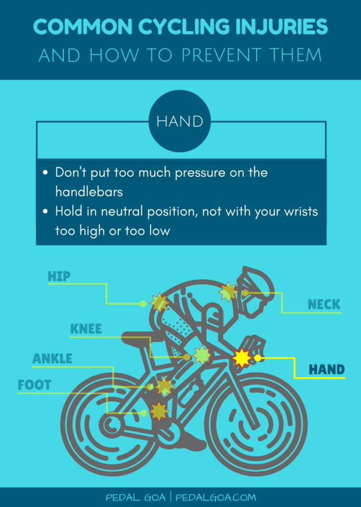 Prevent cycling injuries of hand