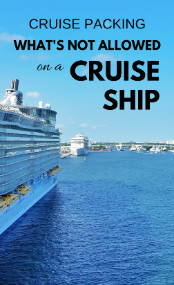 Cruise packing list: What not to bring on a cruise
