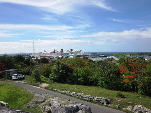 Things to do in Nassau Bahamas: During your excursion, reach the highest point in Nassau and get a view of the cruise port. It's free!