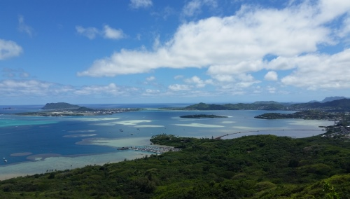 Puu Maelieli Trail: Scenes from Kaneohe hike with the army base, Oahu Hawaii hiking trail