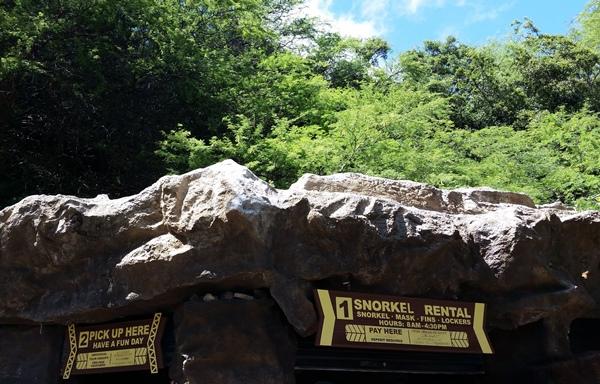 Hanauma Bay snorkel rental: Snorkel gear at Hanauma Bay, Oahu snorkeling, Hawaii