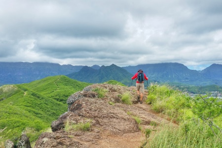 Hawaii packing list: Pack hiking poles for the Lanikai Pillbox Hike!