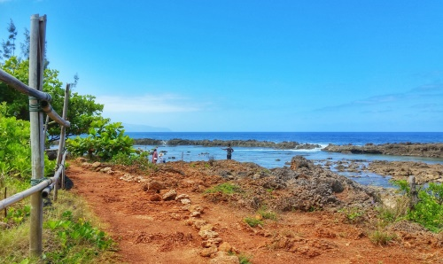 Near Shark's Cove on the North Shore is this hiking trail along the ocean coast.