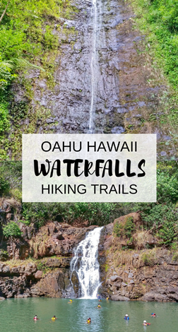 Waterfall hikes on Oahu, Hawaii: Manoa Falls, Honolulu - Waimea Falls, North Shore