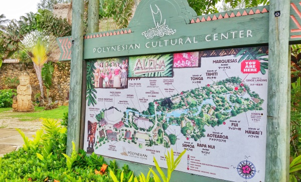 Map of Polynesian Cultural Center, Hawaii