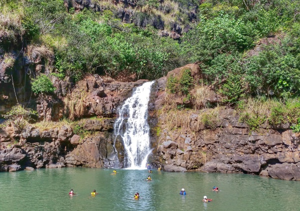 Waterfall Hikes, Oahu: Waimea Falls Trail at Waimea Valley on the North Shore, Hawaii