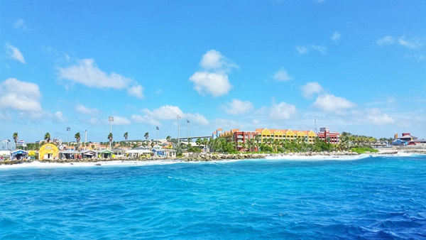 Curacao cruise: At cruise port waiting for Curacao excursion and tour, Caribbean