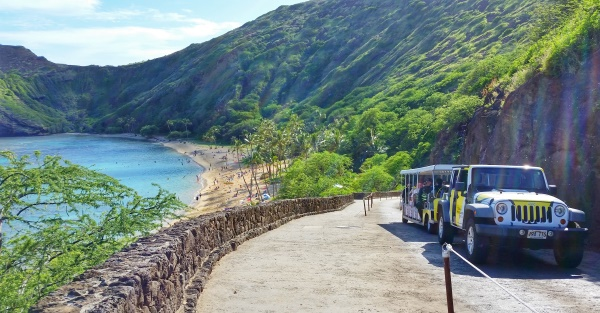 Hanauma Bay snorkeling: Shuttle to Hanauma Bay, Oahu, Hawaii