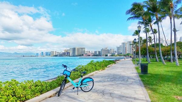 Waikiki Beach: Bike rentals in Waikiki, Oahu, Hawaii