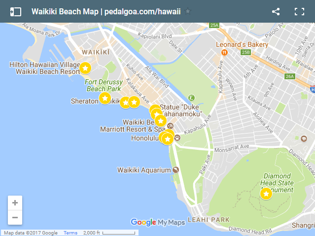 Map Of Waikiki Beach