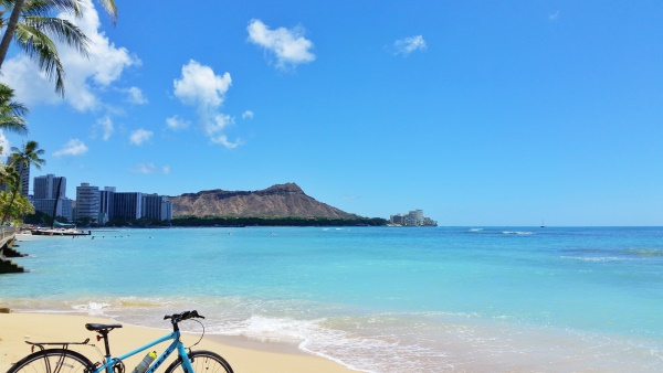 Biking Oahu: Diamond Head Hike - bike and hike tour, Hawaii