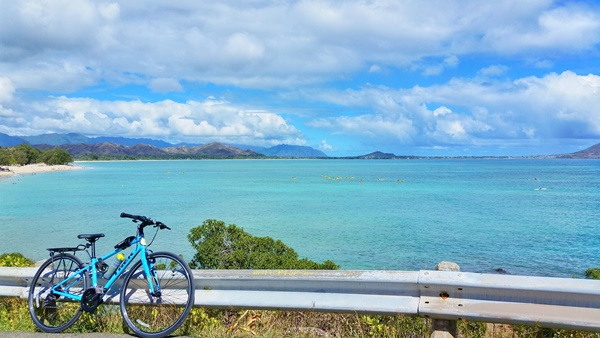 Biking Oahu: Kailua Beach - bike and beach tour, Hawaii