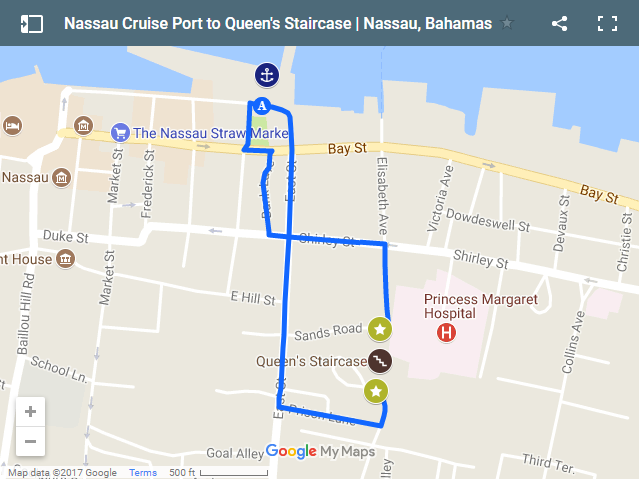 Map Of Cruise Ship Port In The Bahamas Map Of Downtown Nassau - Cruise ship terms