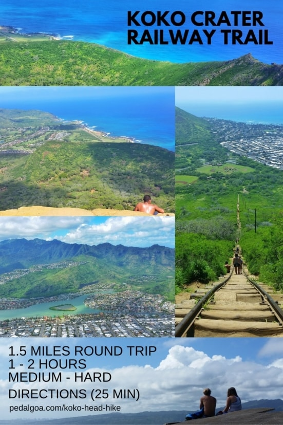 Best short hikes on Oahu, travel guide: Koko Head Hike, best views of Hanauma Bay and windward Oahu, Hawaii