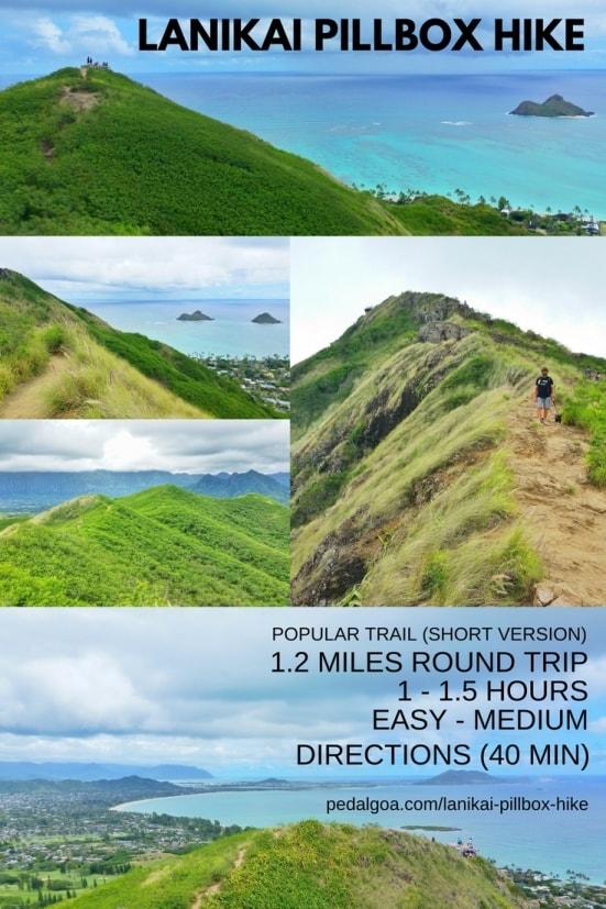 Best short hikes on Oahu, travel guide: Lanikai Pillbox Hike, best views of Kailua and Mokulua Islands, Oahu, Hawaii