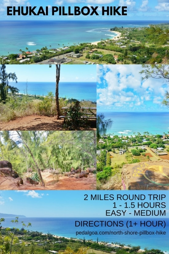 Best short hikes on Oahu, travel guide: North Shore Pillbox Hike, best views on the North Shore, Oahu, Hawaii