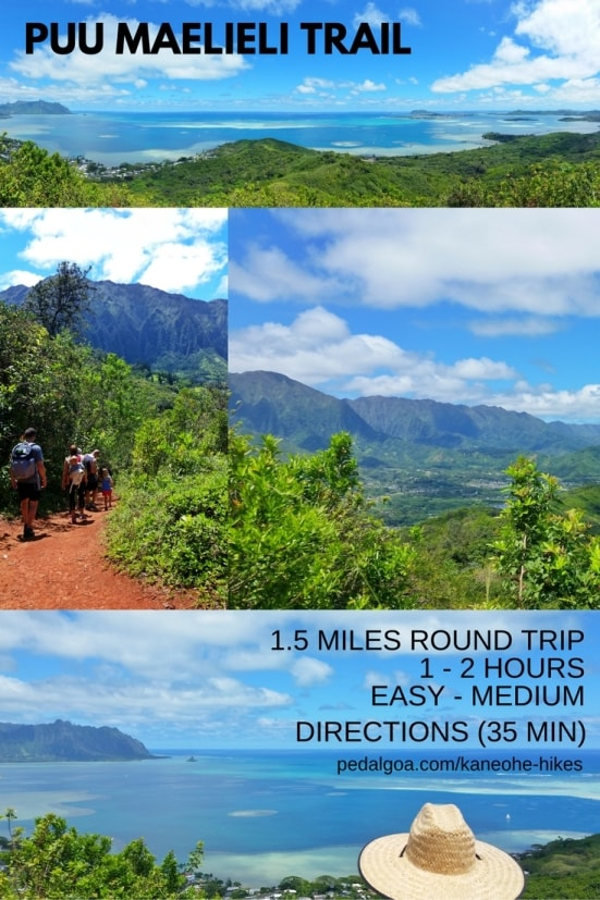 Best short hikes on Oahu, travel guide: Puu Maelieli Trail, best views of Chinaman's Hat and Kaneohe Bay, Oahu, Hawaii
