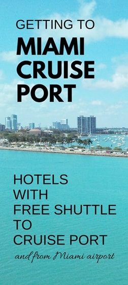 Miami Hotels With Free Shuttle To Cruise Port Map List Miami - Miami hotels close to cruise ship port