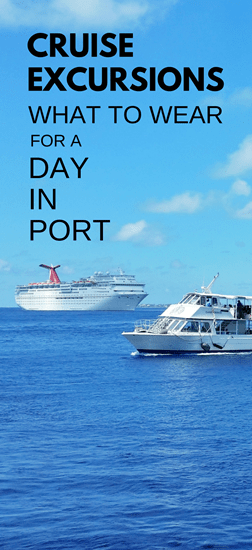 What to wear on cruise excursions: Best travel bags, backpacks, and travel shoes/sandals for port day, Caribbean cruise.