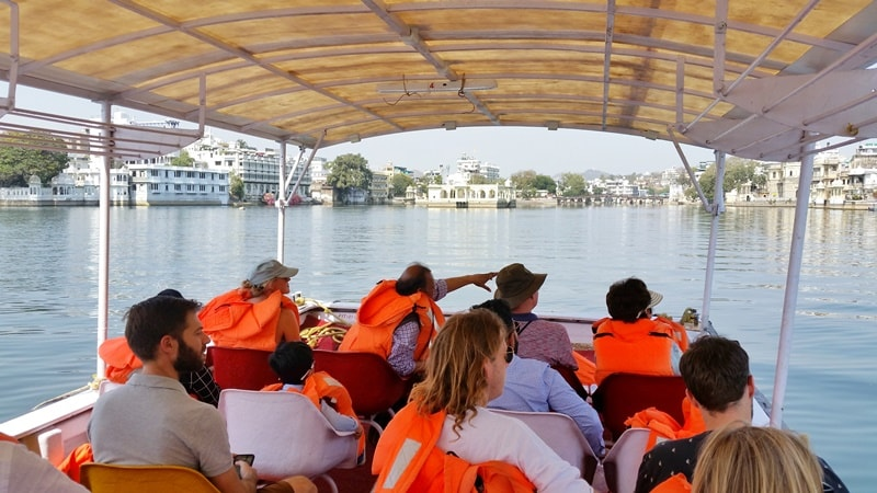 Udaipur itinerary, 4 days: Lake Pichola boat ride from City Palace. Best places to visit in Udaipur, Rajasthan, India.