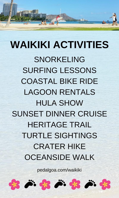 Waikiki Activities Travel Guide: List of best things to do in Waikiki in one week, Oahu, Hawaii.