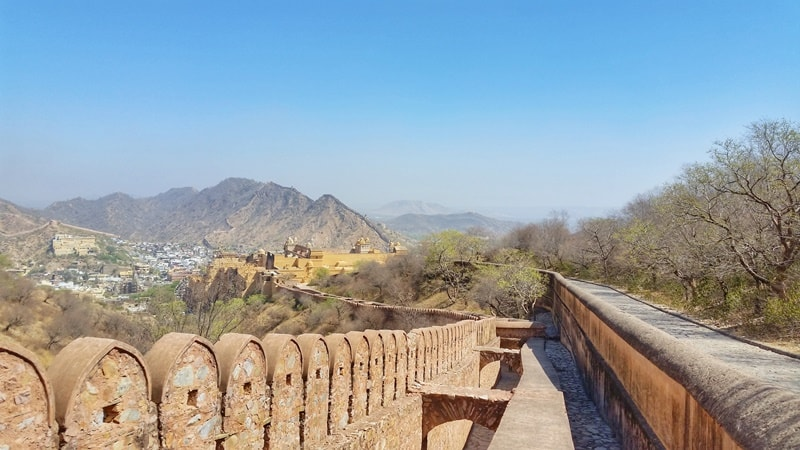 Forts in Jaipur in one day: Jaipur to Jaigarh Fort, near Amber Fort tunnel. Rajasthan forts, India