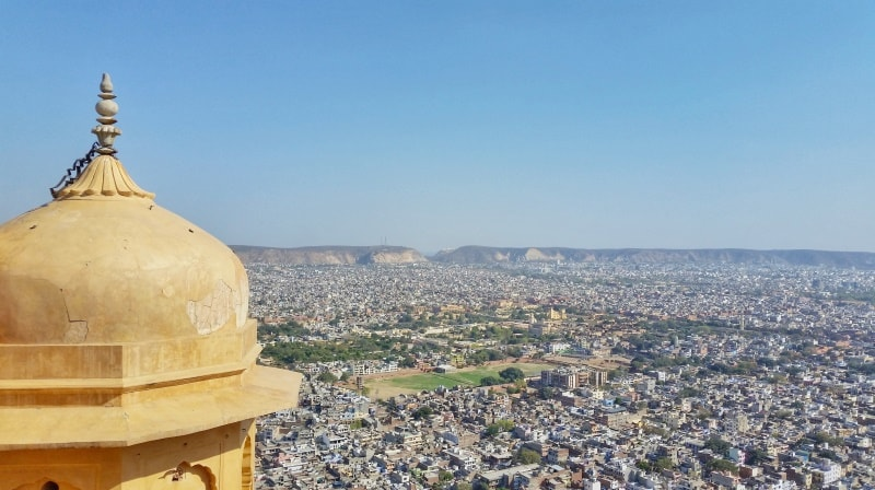 Forts in Jaipur in one day: Nahargarh Fort palace. Rajasthan forts, India