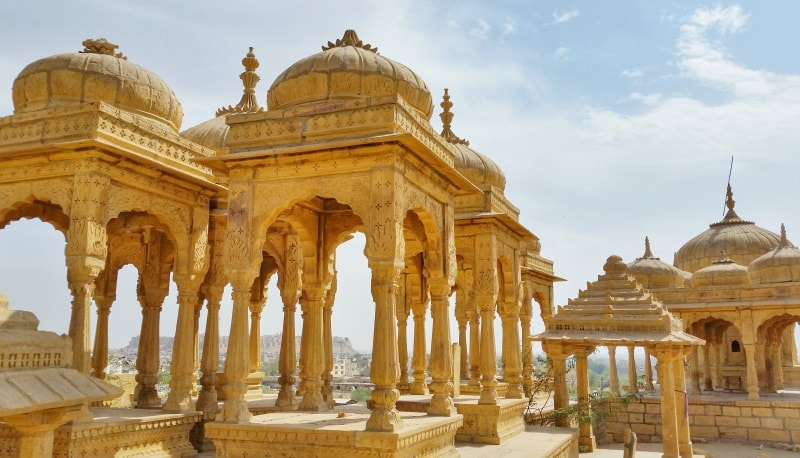 Jaisalmer itinerary, 2 days: Best views of Jaisalmer Fort near Hotel Heritage House, sunset point. Best places to visit in Jaisalmer, Rajasthan, India.