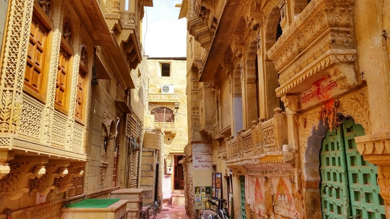 Jaisalmer itinerary, 4 days: Golden City streets of Jaisalmer Fort. Best places to visit in Jaisalmer, Rajasthan, India.