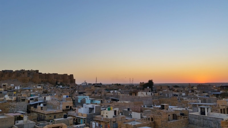 Jaisalmer itinerary, 6 days, one week: Best rooftop fort views on Jaisalmer haveli, sunset point. Best places to visit in Jaisalmer, Rajasthan, India.