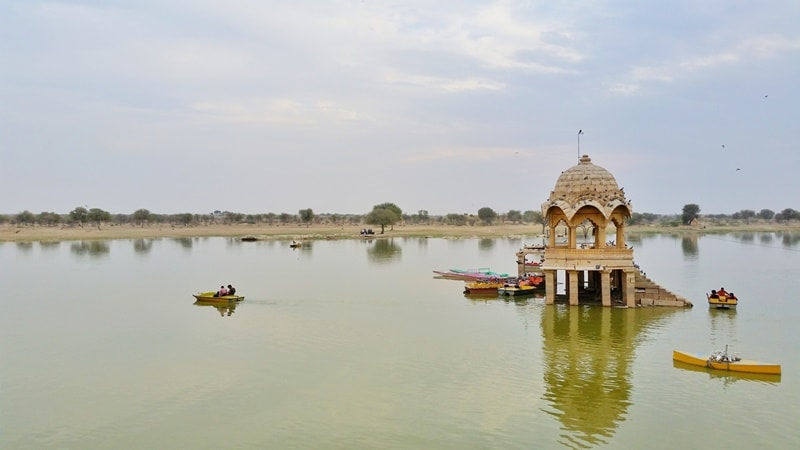 Jaisalmer itinerary, one days: Gadisar Lake, sunset point. Best places to visit in Jaisalmer, Rajasthan, India.