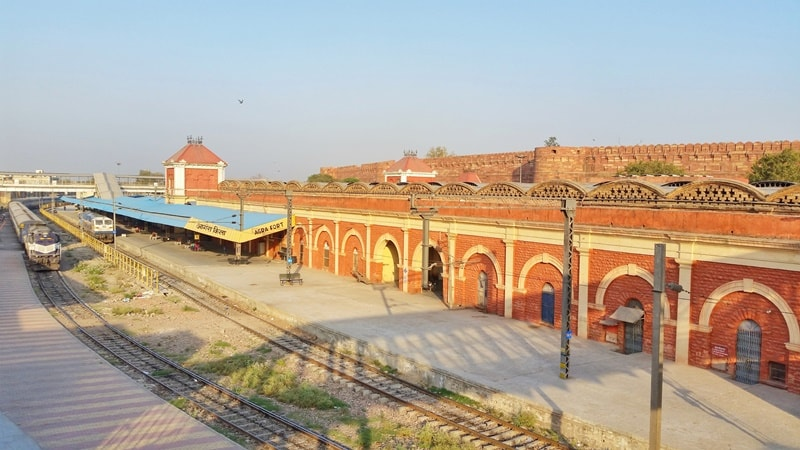 One day in Agra, itinerary: Delhi to Agra train, Jaipur to Agra train. Agra Fort train station. Best places to visit in Agra, Golden Triangle, India