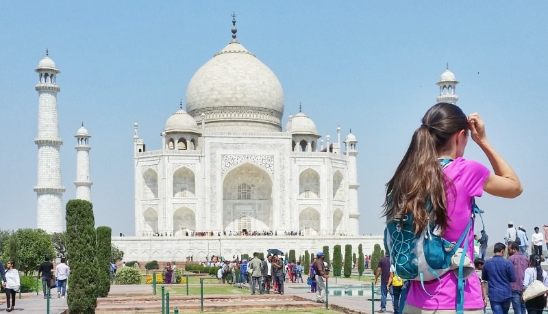 One day in Agra, itinerary: Small backpack allowed at Taj Mahal, prohibited items in storage lockers. Best places to visit in Agra, Golden Triangle, India