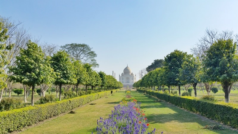 One day in Agra, itinerary: Best views of Taj Mahal across Yamuna River at Mehtab Bagh Garden. Best places to visit in Agra, Golden Triangle, India