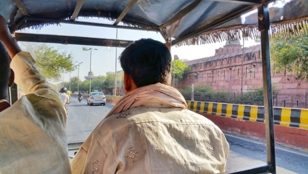 One day in Agra, itinerary: Getting around Agra by rickshaw, fare. Best places to visit in Agra, Golden Triangle, India