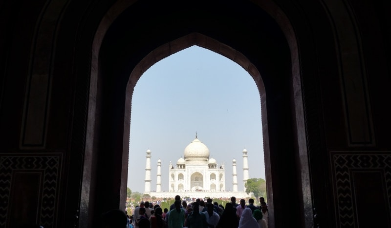 One day in Agra, itinerary: Taj Mahal entry gate. Best places to visit in Agra, Golden Triangle, India