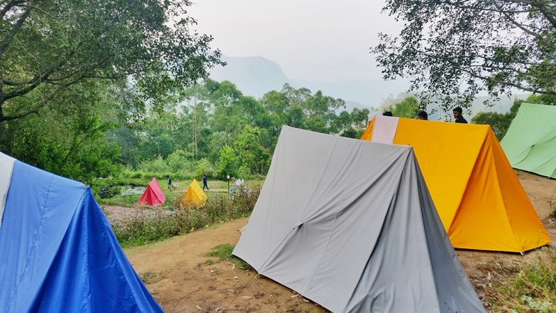 Munnar itinerary, 4 days: Meesapulimala Trek base camp. Overnight camping in tent. Best things to do in Munnar, Kerala, India.