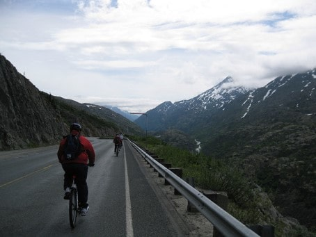 Biking in Alaska USA